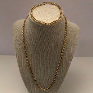 14KT plated vintage chain & bracelet